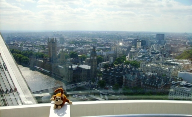 Maurice on the London Eye